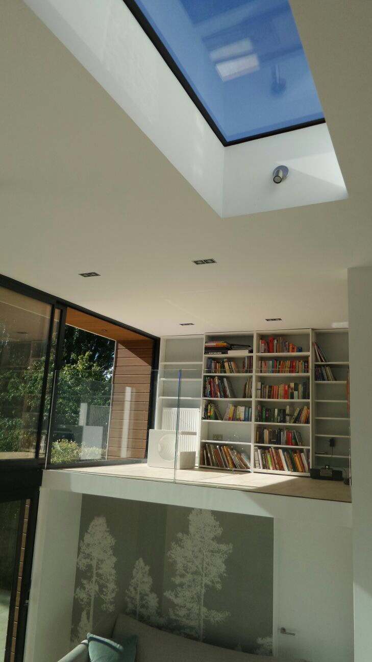 This is a gallery photo of works completed