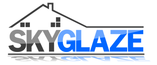 this is an image of a logo for a company called skyglaze ltd.